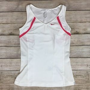 NIKE Dri fit athletic workout top shirt white S